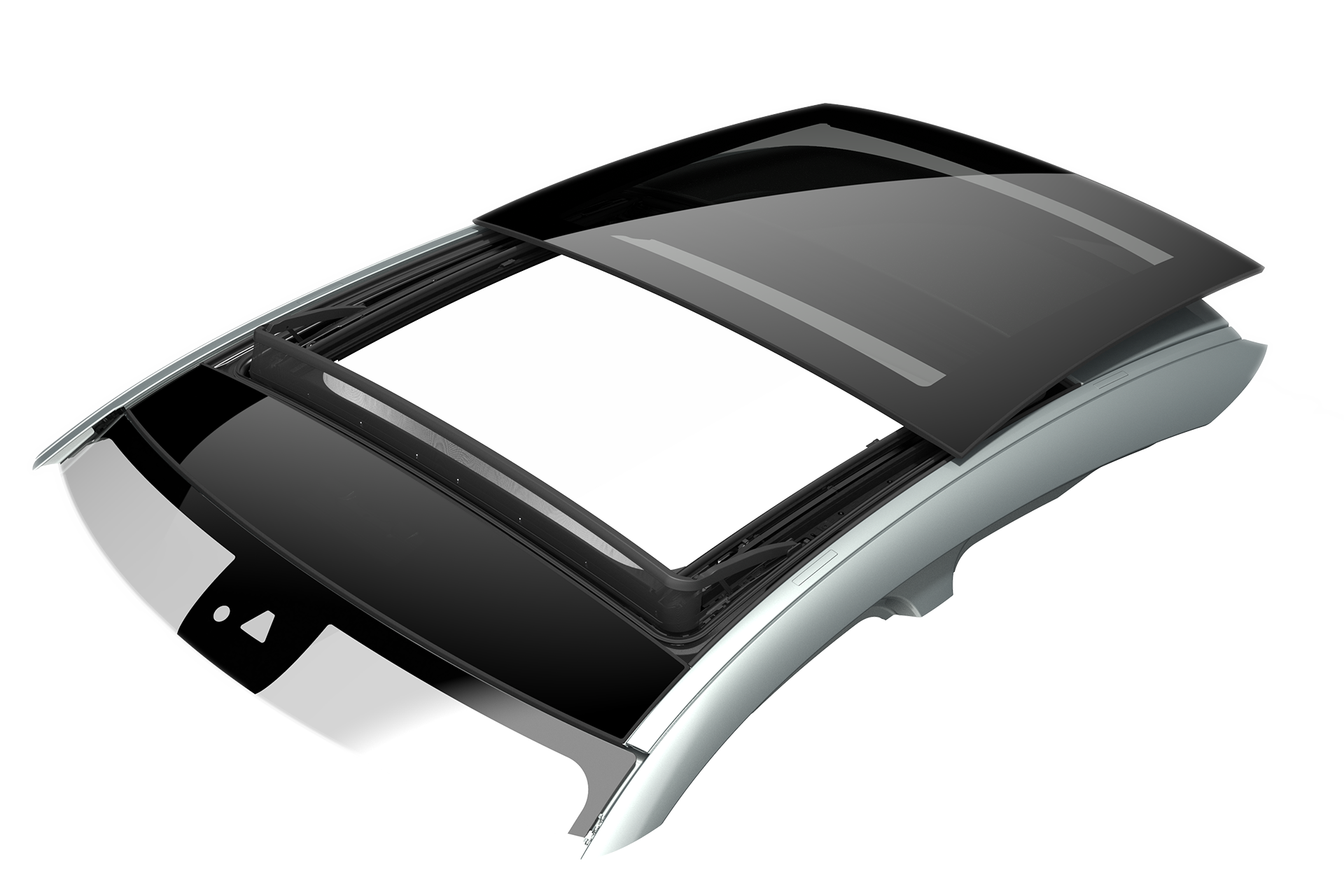 Exterior sliders, Roof systems, automotive, Inalfa